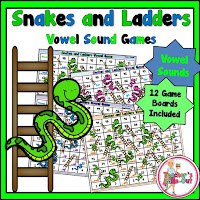 Vowel Sounds Snakes and Ladders