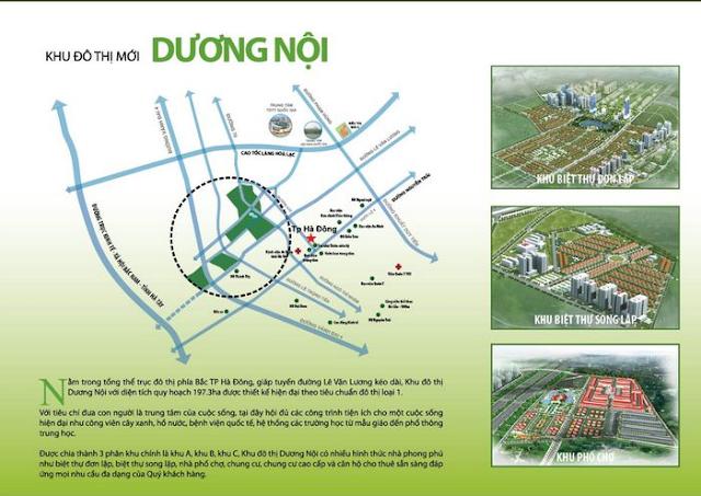 Vị trí đắc địa của khu đô thị Dương Nội