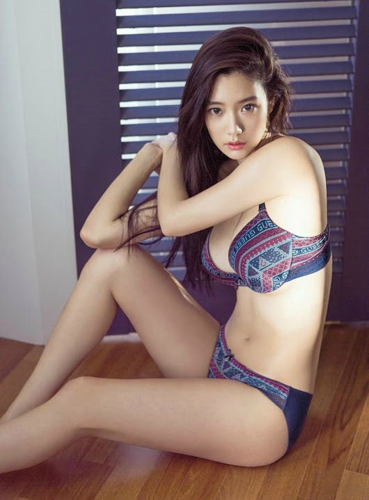 Clara poses for GUESS underwear