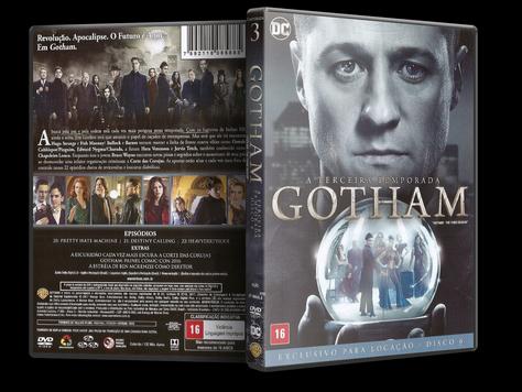 Capa DVD Gotham - Terceira Temporada - Disco 6
