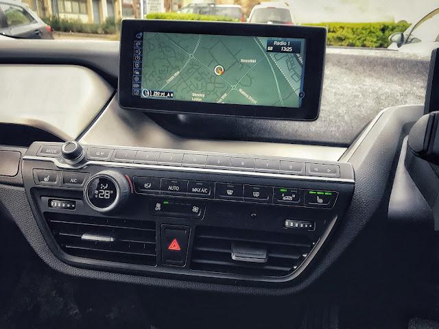 BMW i3 Electric Car Map Dashboard Display Car Features
