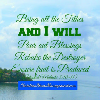 Bring all the tithes and I will pour out blessings, rebuke the destroyer and ensure that fruit is produced. Malachi 3: 10-11