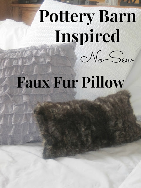 Pottery Barn Inspired Fur Pillow-No Sew