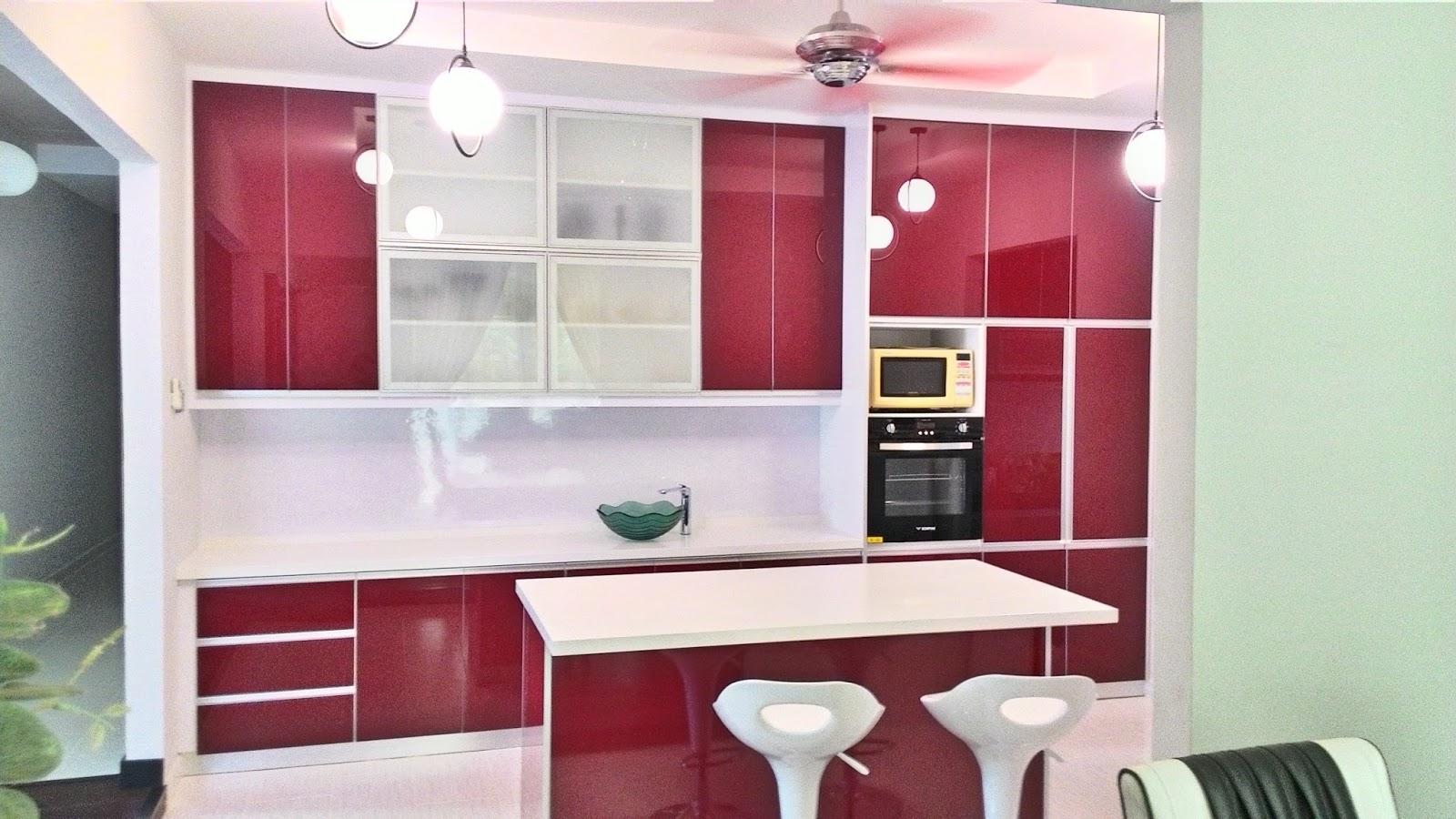 Kabinet Dapur Kelantan Rumah Banglo Murah 3g 4g Moden Kayu Aluminium