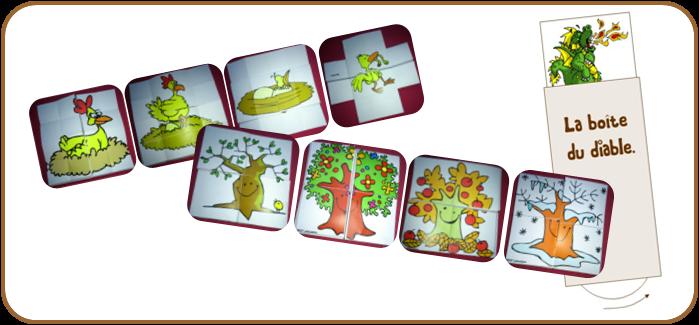 Carte magique des saisons de l'arbre
