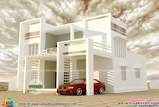 Modern house plan by Jadeesh P S