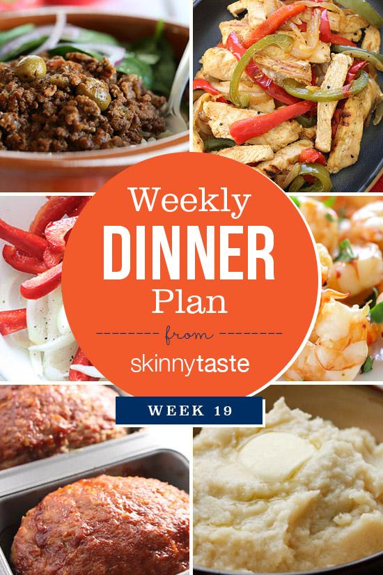 Skinnytaste Dinner Plan (Week 19) | Skinnytaste
