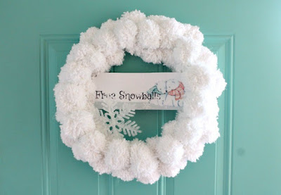 snowball winter wreath