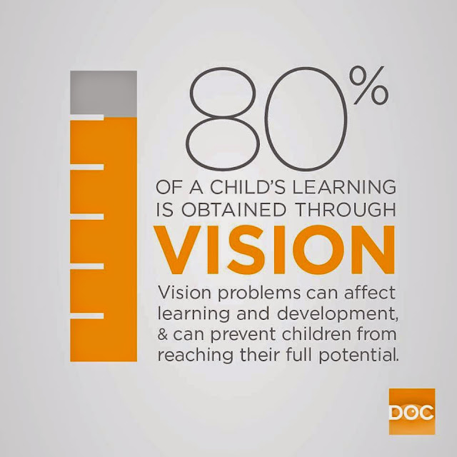 80% learning is from vision