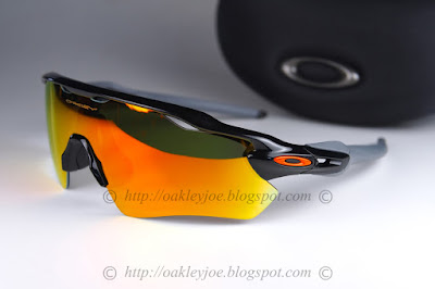 be4b7be8a10 oo9208-19 Radar EV Path Team Color Collection polished black + fire iridium   245 lens pre coated with Oakley hydrophobic nano solution