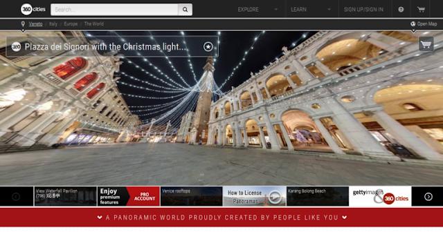 موقع لمشاهدة الأماكن حول العالم بتقنية 360 درجة