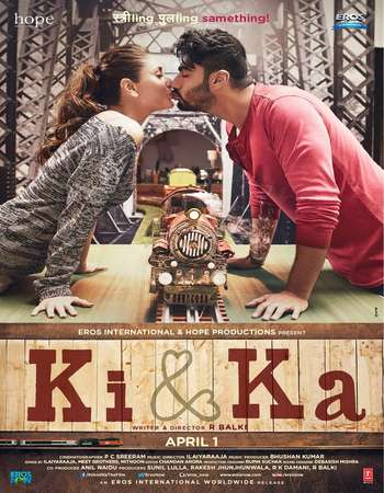 Poster Of Ki and Ka 2016 Hindi 700MB DVDRip XviD ESubs Watch Online Free Download Worldfree4u