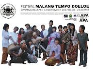 Festival Malang Tempo Doeloe Digelar 12 Nopember 2017