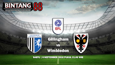 Prediksi Gillingham VS AFC Wimbledon 8 Agustus 2018