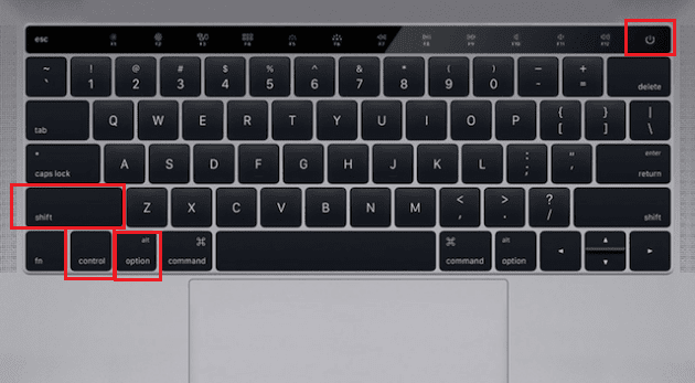 Reset SMC in Macbook Pro With Touchbar