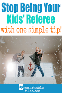 I can't believe I didn't think of this brilliant parenting idea earlier! Is it driving you crazy being the referee when your kids fight? Straight from a mom of 6, here are some simple parenting strategies to stop sibling fighting and teach children to work it out! #siblingrivalry #kids