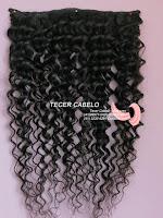 Uma tela de cabelo cacheado