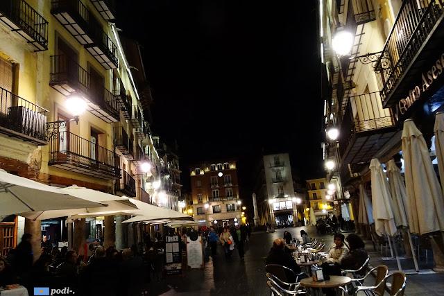 Plaza del Torico de noche, Teruel
