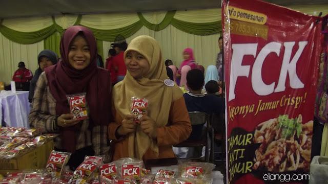 usaha jamur crispy fck, ldii trade fair 2015