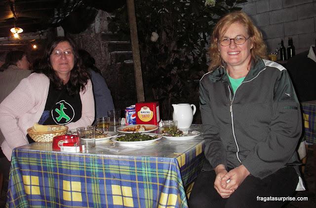 Jantar em Caldas de Reis, no Caminho de Santiago