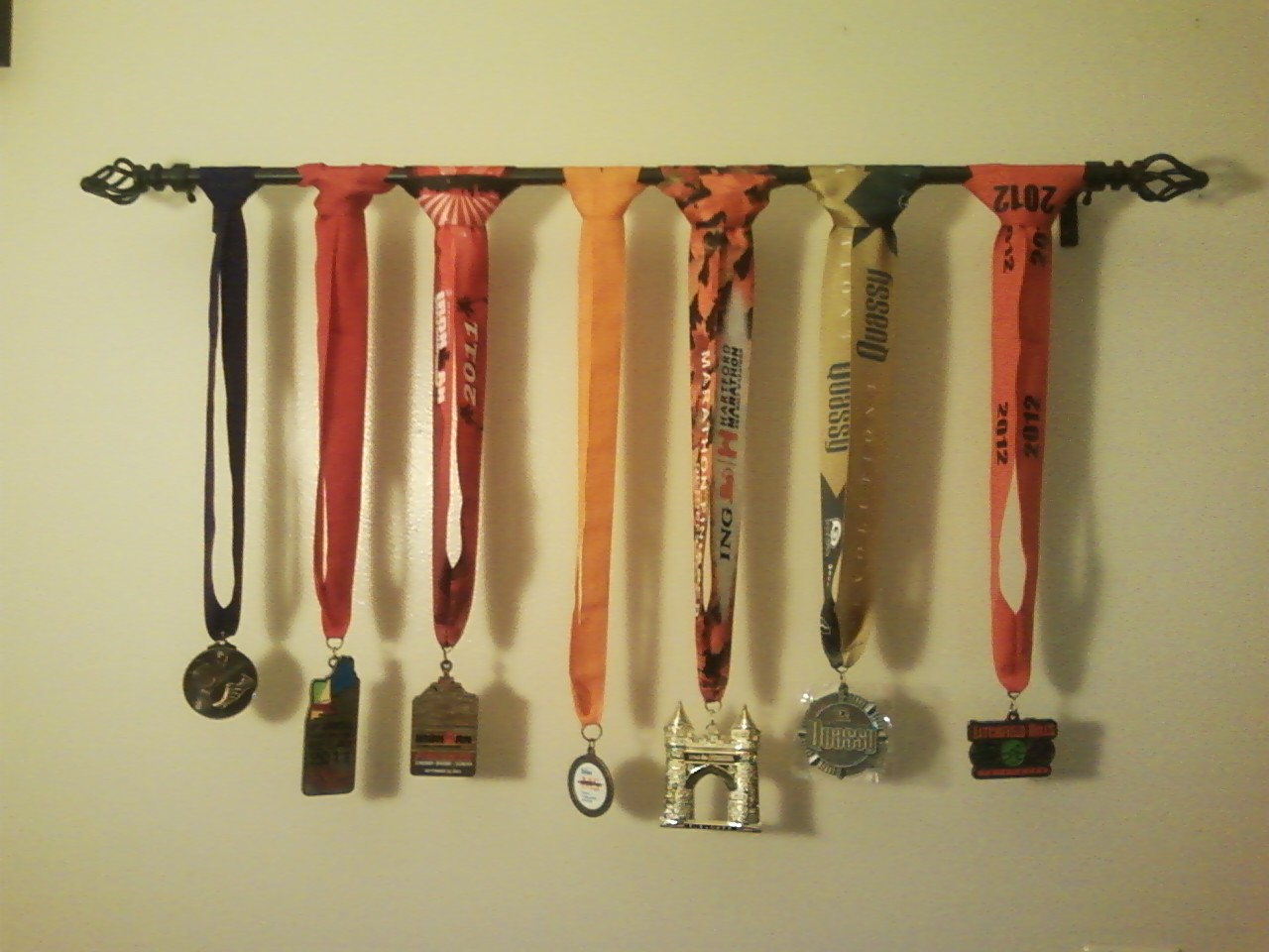 Becoming An Ironman: Medal Display