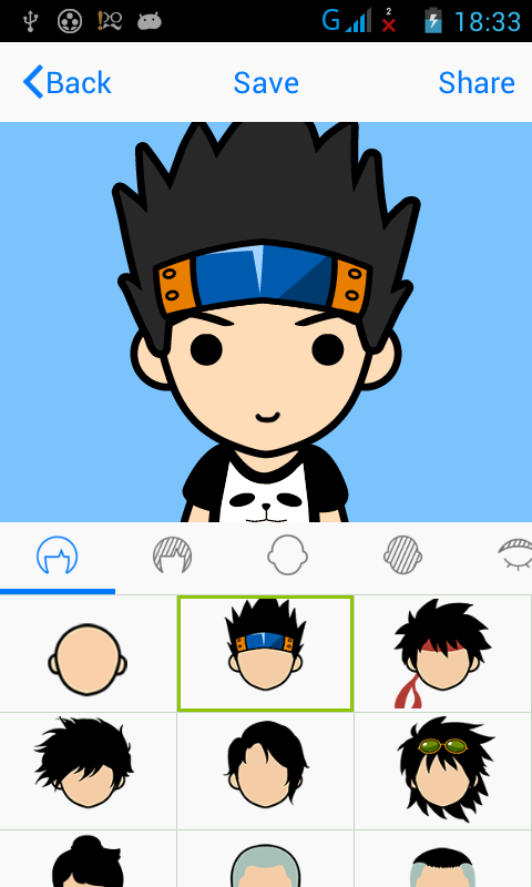 profile picture yang kalian pajang di akun socmed kalian FaceQ : Aplikasi untuk membuat Avatar Wajah Kartun di  Android