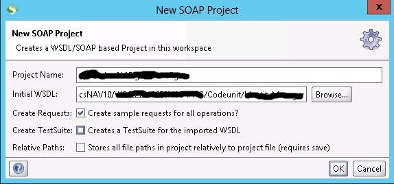 SoapUI-->New Project