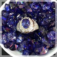 Jual Cincin Perak Batu King Safir