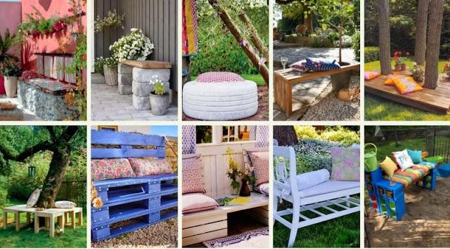 DIY Καθίσματα για Κήπο - Μπαλκόνι