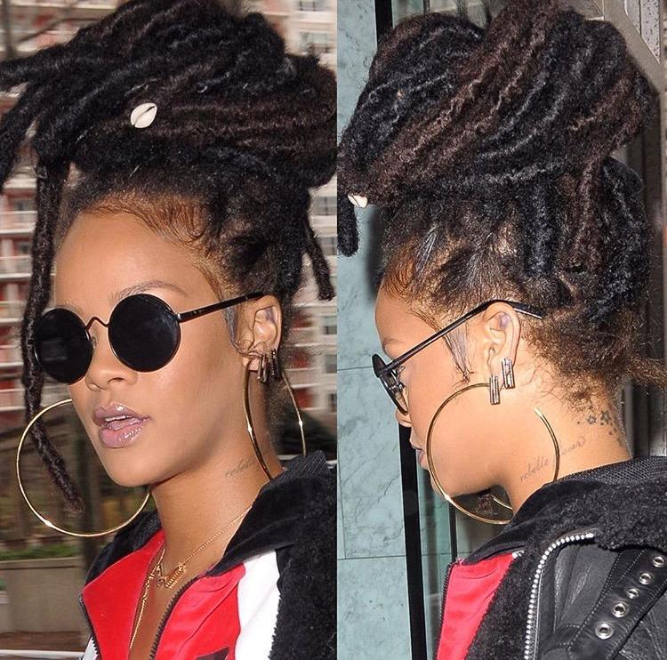 Crochet Faux Locs Updo Hairstyles: 6FOOTLONGHAIR: Rihanna