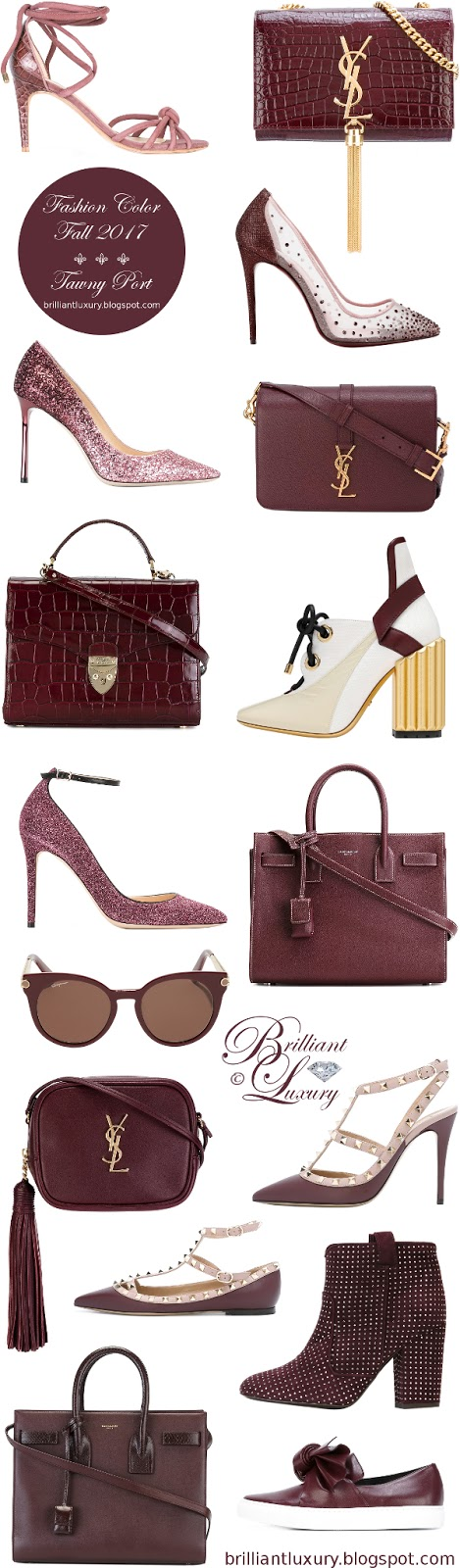 Brilliant Luxury ♦ Fashion Color Fall 2017 ~ Tawny Port
