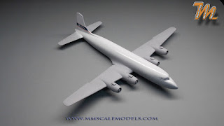Delta Airlines Douglas DC-6, 1/144  scale model Mr. Color C01 Mr. Leveling Thinner