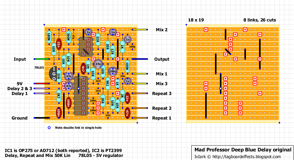First Act Guitar Wiring Diagram Ford Focus Stereo Fx Layouts: Mad Professor Deep Blue Delay