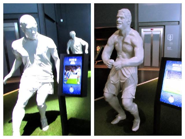 Figuras do Deco e Hulk no Museu do FC Porto