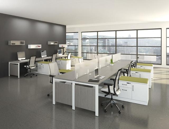 best white modern modular office furniture rental online