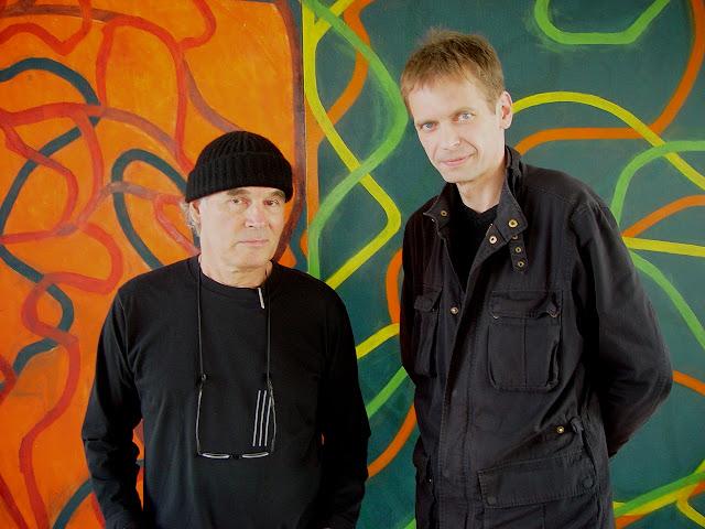 Brice Marden & Klaus Guingand - 2006 - New York - USA- Brice Marden studio   © Muriel Bonel