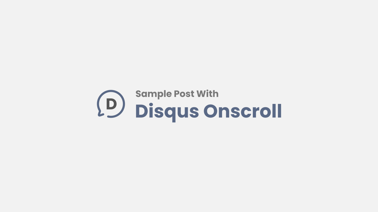 Post with Disqus Onscroll Comment