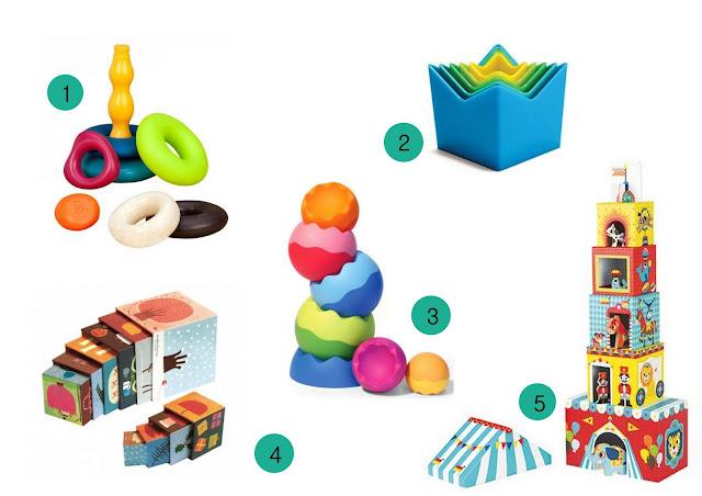wieże i piramidy, zabawki na 1 urodziny dziecka