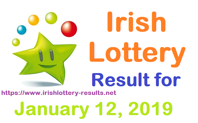 Irish Lottery Result for Saturday, 12 January 2019