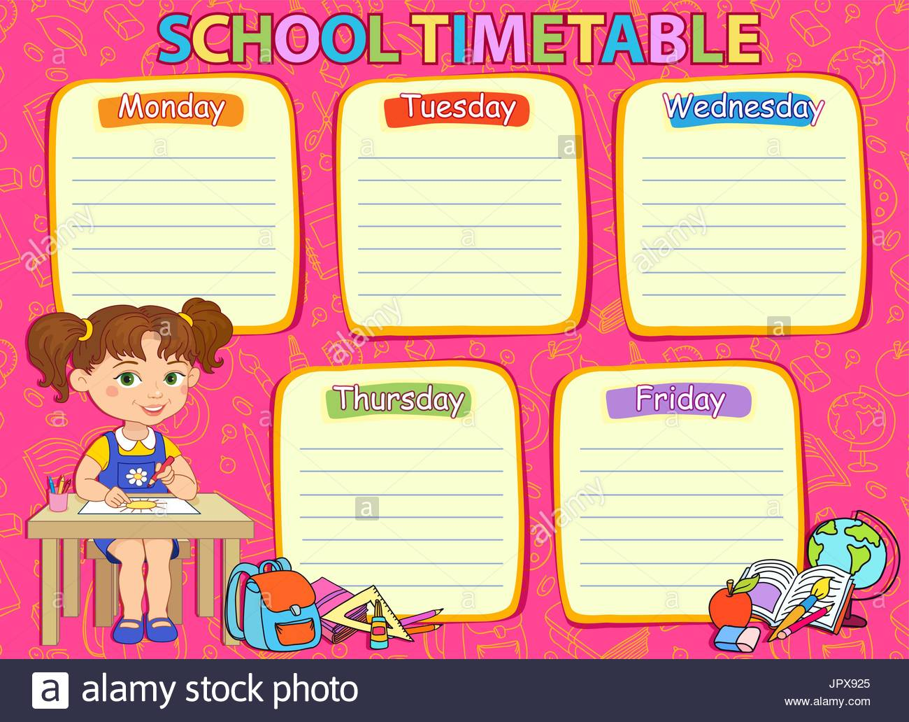 timetable templates for school in excel format