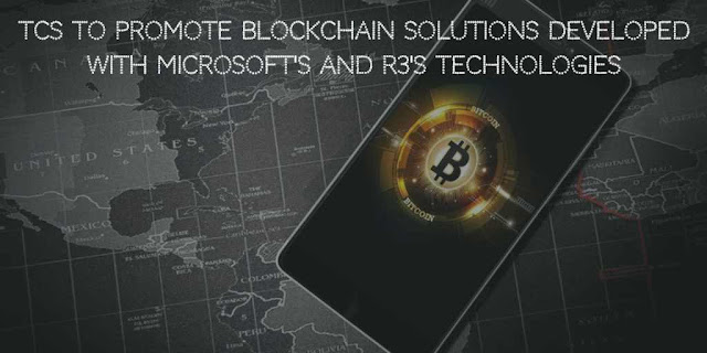 TCS to promote Blockchain Solutions Developed with Microsoft's Azure and R3's Corda Blockchain Technology