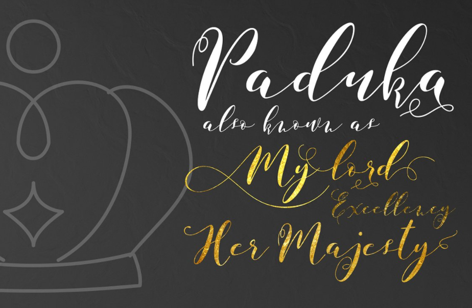 Paduka Script Is A Elegant Font With 471 Glyphs It Equipped Plenty Of OpenType Features To Activate The Alternates Click On Swash And Stylistic