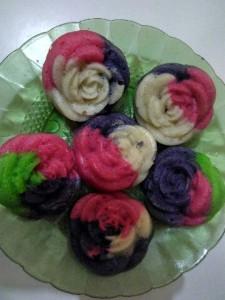 Resep Apem Nasi Bentuk Bunga Mawar dan Aneka Warna