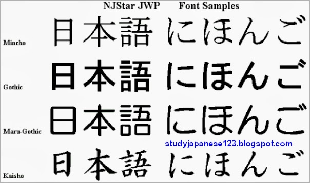 Study Japanese: Download Japanese fonts
