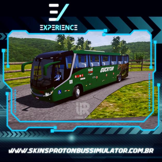 Skins Proton Bus Simulator Road - Comil Invictus MB O-500 RS Eucatur Jaguar