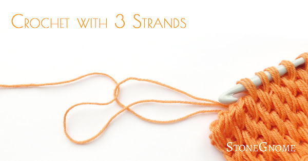 Crochet with 3 strands of yarn