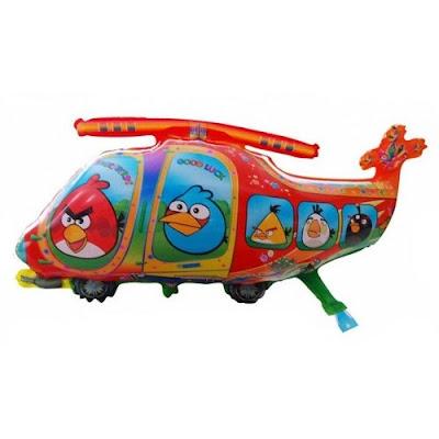 Balon Foil Karakter Helicopter Angry Bird