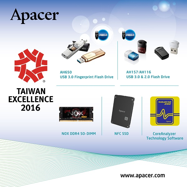 Apacer receives the 24th Taiwan Excellence Award!
