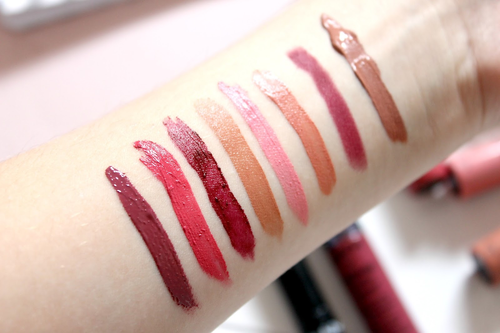 NYX Liquid Lipsticks Swatches