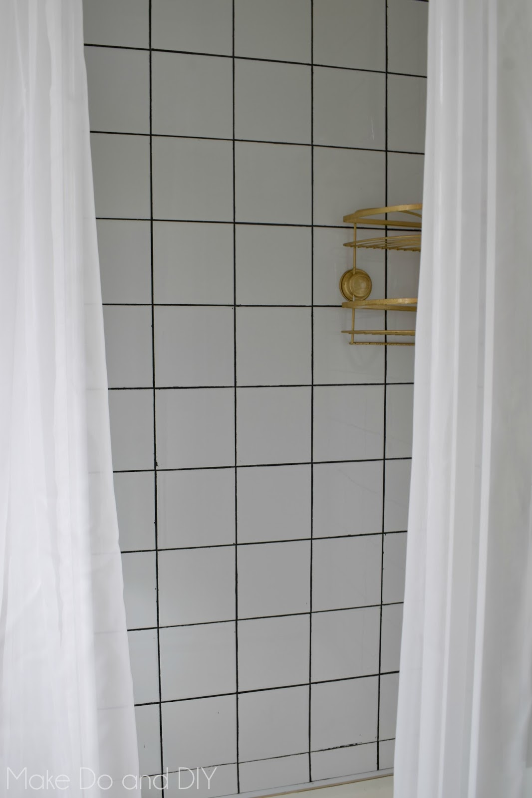 painted the shower make do and diy